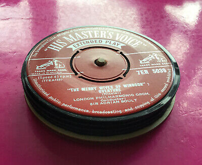 Four Hand Crafted Original Vinyl Record Drinks Coasters Orchestral 1960s • 6.99£