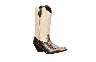 $49 • Buy Durango Crush Snakeskin Print Leather J Toe Cowgirl Boots #rd018 Women's Size 8m
