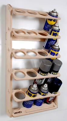 £35.26 • Buy 20 Can Spray Paint Or Lube Can Wall Mount Storage Holder Rack