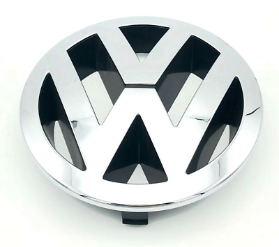 Genuine VW TOUAREG FRONT 150mm GRILLE EMBLEM CHROME BADGE 7L6853601A • 15.99£