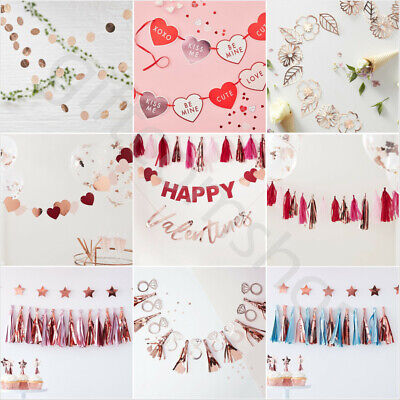 Valentines Day Decorations Party Garland Bunting Banner Valentines Decorations • 5.70£