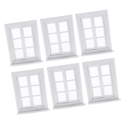 £24.92 • Buy Lots 6 1:12 White Windows Dollhouse Accessories Children Toddlers Play Set