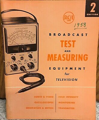 $34.99 • Buy 1958 RCA Catalog Broadcast Test & Measuring Equipment For Television VG++