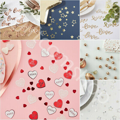 Valentines Day Table Decorations Love Heart Confetti Scatter Wedding Engagement • 3.19£