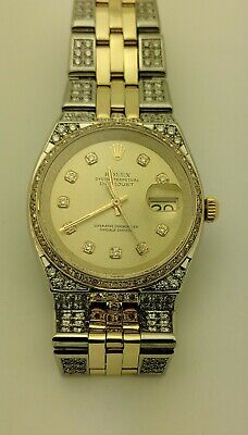 $ CDN10079.62 • Buy Rolex Oyster Perpetual Datejust Watch Yellow Dial