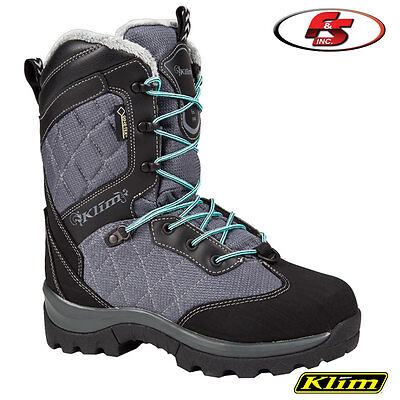 $ CDN253.66 • Buy New 2019 KLIM AURORA GTX Snowmobile Women's Gore-tex BOOTs Gray-Black 7