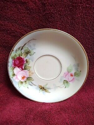 $10 • Buy M Z Austria China Saucer Pink And Red Roses