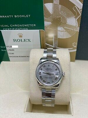 $ CDN8094.15 • Buy Rolex Midsize Datejust 178240 Roman Dial Stainless Steel Box Papers 2014