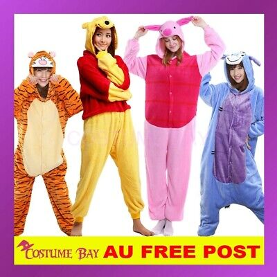 AU27.95 • Buy Winnie The Pooh Piglet Onesie Animal Kigurumi Pajamas Pyjamas Sleepwear Costume
