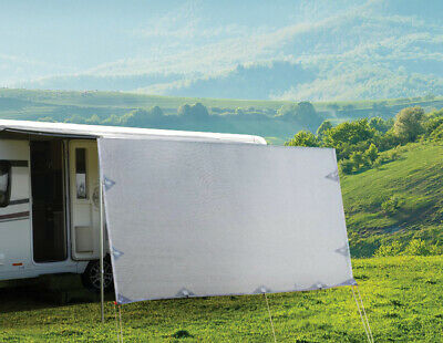 AU91.66 • Buy 3.4m Caravan Privacy Screen Side Sunscreen Sun Shade For 12' Roll Out Awning