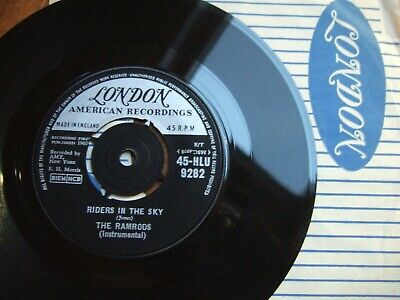 The Ramrods - Riders In The Sky - London  45-hlu 9282 / 1960 + Co.sleeve Ex  • 1.99£
