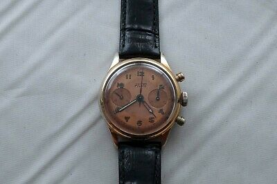 $ CDN699 • Buy Vintage Fludo Chronograph Manual Wind Mens Watch Landeron 51 Runs  B522