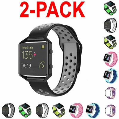 $ CDN16.73 • Buy 2X For Fitbit Blaze Silicone Replacement WristBand Sport Wrist Strap Watch Band