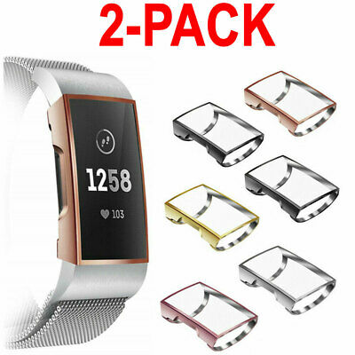 $ CDN9.88 • Buy 2X For Fitbit Charge 3 Smart Watch Band Case Rugged Screen Protector Silicone