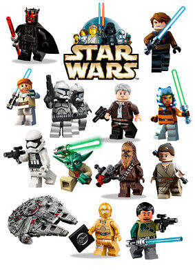 £8.99 • Buy Lego Star Wars Wall Stickers - 5 Sizes Available