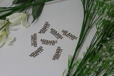 Personalised MR & MRS 50PC Wedding Glitter Confetti Table Decorations Rose Gold  • 5.99£