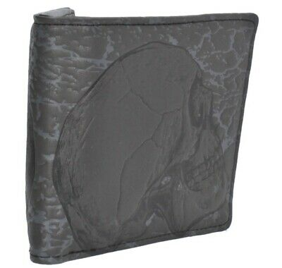 Mens Bifold Wallet Embossed Skull Design Biker Moto Cycle Gift Made By Shagwear • 19.99£