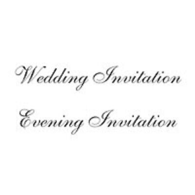 WOODWARE Clear JUST WORDS Singles Stamps WEDDING EVENING INVITATION JWS055 • 2.75£