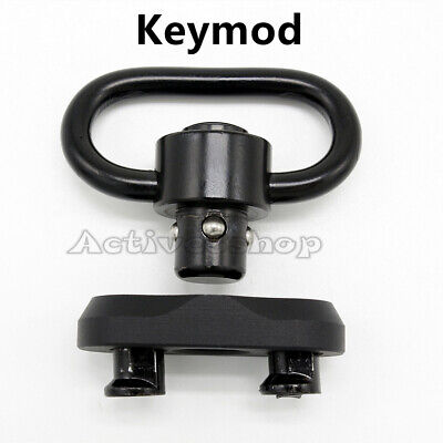 $ CDN17.75 • Buy QD Push Button Sling Swivel 1.25 Inch Hook With Adapter Mount Fit Key Mod Base