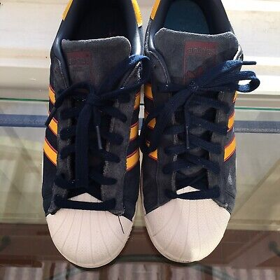 $ CDN26.07 • Buy Adidas Superstar Low Shell Sneakers Blue/yellow Preowned Mens Size 10 Cm8080