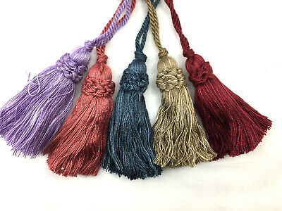 CLEARANCE! 2 X Viscose Decorative Key Cushion Tassels - Various Colours! • 3£