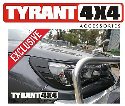 AU55 • Buy #0112017 Black Headlight Trims Front Cosmetic To Suit Toyota Hilux N80 2019 2020