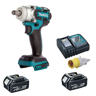 MAKITA 18V LXT DTW285 IMPACT WRENCH 2 BL1840 BATTERIES DC18RC 110v CHARGER • 287.98£