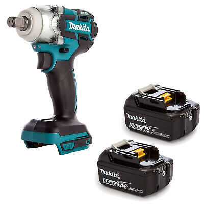 Makita 18v Lxt Dtw285 Dtw285z Dtw285rfe Impact Wrench And 2 Bl1850 Batteries • 252.01£