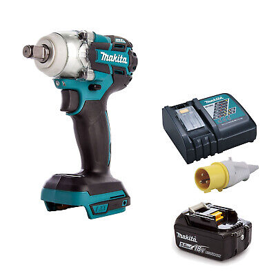 MAKITA 18V LXT DTW285 IMPACT WRENCH, BL1850 BATTERY DC18RC 110v CHARGER • 297.02£