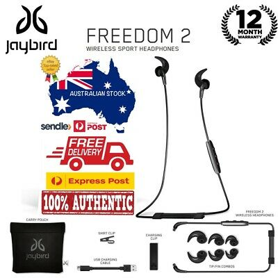 AU49 • Buy GENUINE Jaybird Freedom 2 Bluetooth Wireless Buds Headset Earphone Black