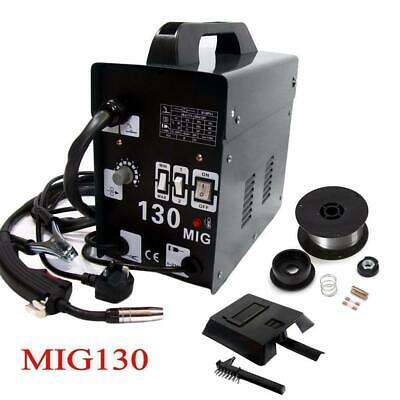 Mig-130 Portable Welder 230v No Gas Gasless Mig Flux Welding Mask Machine Kit Uk • 87.95£