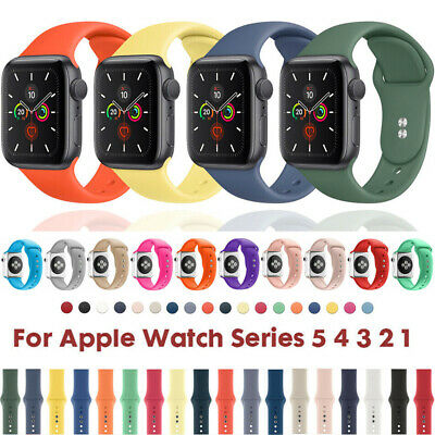 $ CDN4.19 • Buy Für Apple Watch Series 5 4 3 2 1 Silikon Ersatz Band Sport Armband 38 40 42 44mm