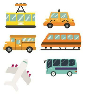 Public Transport Bus Train Taxi Wall Stickers - 5 Sizes Available • 6.99£