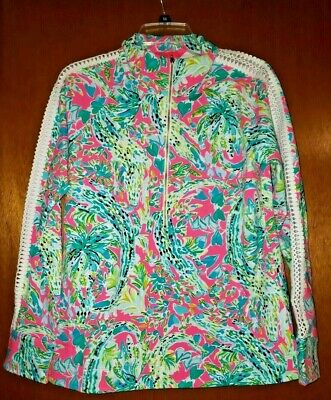 $62 • Buy NWT Lilly Pulitzer Skipper Popover Multi Snap Back Size Medium M Free Shipping!