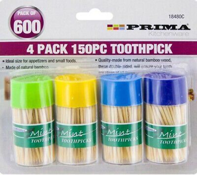 £3.95 • Buy New Pack Of 600 Toothpicks Mint Cocktail Sticks Party Wooden Picks Dental