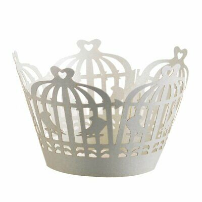£3.75 • Buy 24 Cupcake Wrappers Birdcage Laser Cut Cases Cake Wedding Birthday Party Shower