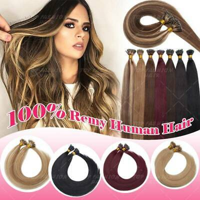 $27.76 • Buy Remy Tip Pre Bonded Nano Keratin Remy Human Hair Extensions Blonde 200G 1g P662