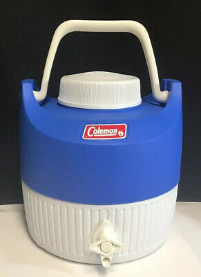 $29.95 • Buy Vintage COLEMAN Water Jug Cooler Blue With Drinking Cup. Made In USA 1984
