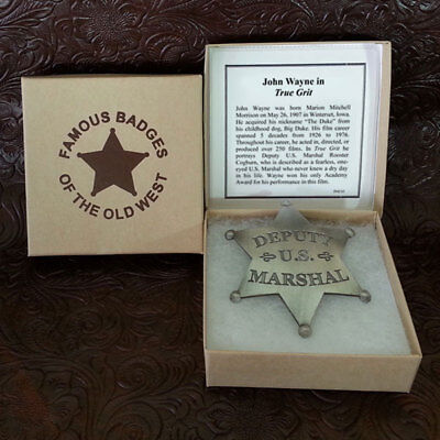 $13.99 • Buy US Marshall  Replica Badge- John Wayne Movie True Grit