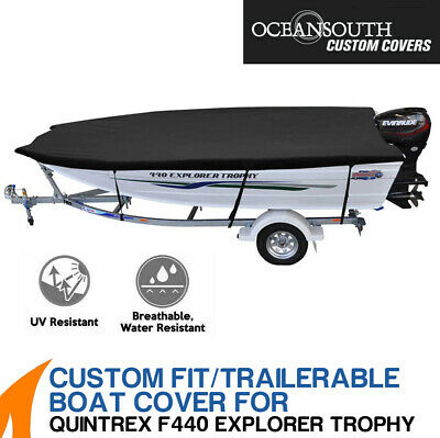 AU249 • Buy Oceansouth Custom Fit Boat Cover For Quintrex F440 Explorer Trophy Boat