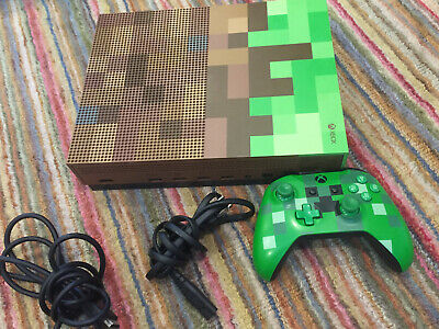 $229.99 • Buy Microsoft Xbox One S Minecraft Limited Edition Bundle 1TB Green & Brown Console
