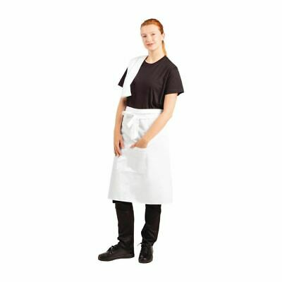 £16.87 • Buy Whites Chefs Clothing Unisex Bistro Professional Apron In White Size R