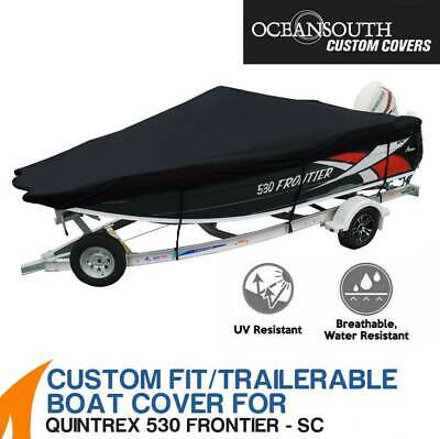 AU359 • Buy Oceansouth Custom Fit Boat Cover For Quintrex 530 Frontier Side Console