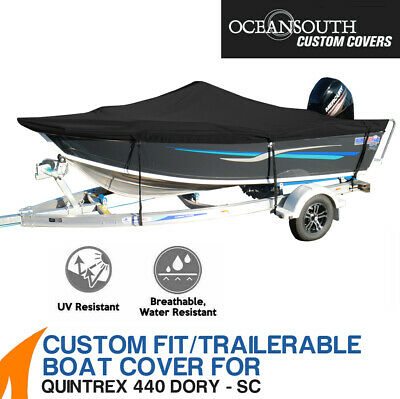 AU269.10 • Buy Oceansouth Custom Fit Boat Cover For Quintrex 440 Dory Side Console