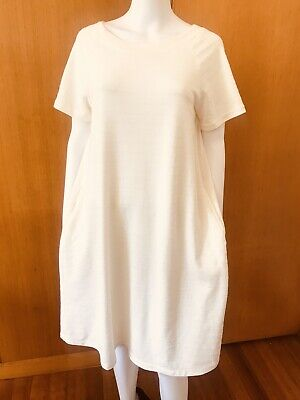 AU24.50 • Buy Uniqlo-A-Line Stretch Weave Cotton Dress With Pockets-Size L