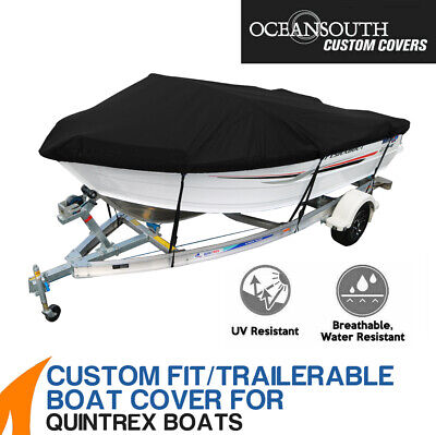 AU250.22 • Buy Oceansouth Custom Fit Boat Cover For Quintrex 481 Fishabout Runabout Boat