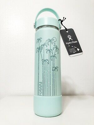 $75 • Buy New Hydro Flask 24 Oz HAWAII Exclusive Seafoam (Mint) Teal Palm Limited Edition