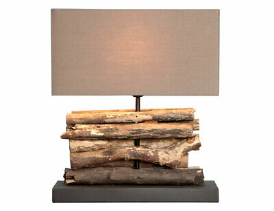 Lamp Desk Lamp Wooden Wood Lamp Table Driftwood 40cm High • 95.96£