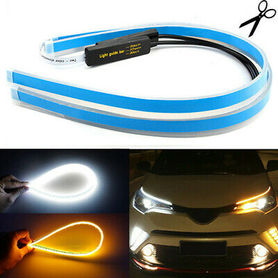 $ CDN9.83 • Buy 2pcs Car LED Strip Light Sequential Switchback Signal DRL Dynamic Indicator Lamp