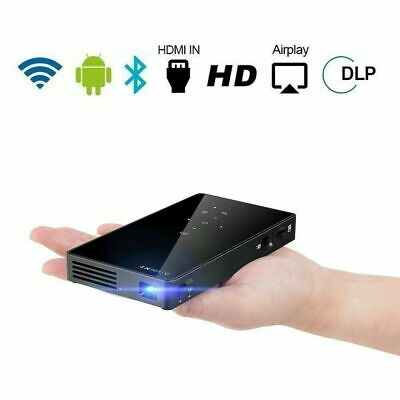 AU294.13 • Buy Mini Pocket 3000 Lumens DLP Android Wifi HD 1080P Home Cinema Projector HDMI USB